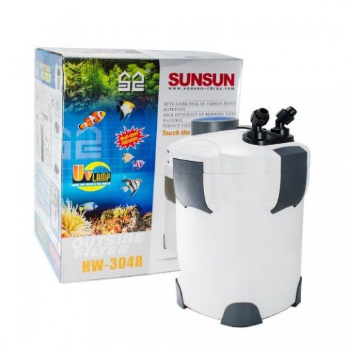 new 200 gallon aquarium external canister filter 5 stage with 9w uv sterilizer for fish tank sunsun hw 304b usa 1164171 500x500 - SunSun HW-304B External Filter with UV & Filter Media