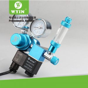CO2 Dual Gauge with Solenoid 300x300 - Wyin Dual Gauge CO2 Regulator With Solenoid & Bubble Counter