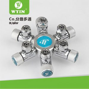 CO2 Splitter6 300x302 - Wyin 6 Way CO2 Splitter with needle valve