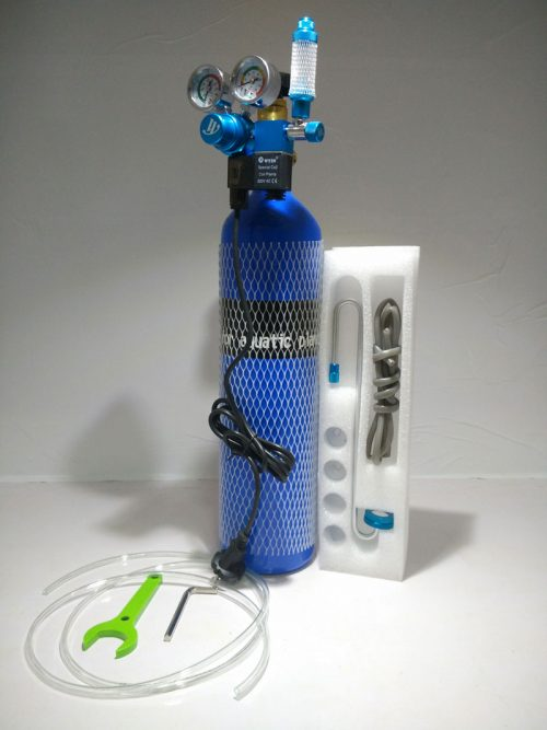 CO2 Complete Kit with Dual Gauge Solenoid 500x667 - Oceanfree CO2 3 Ltr Cylinder Complete Kit (Dual)