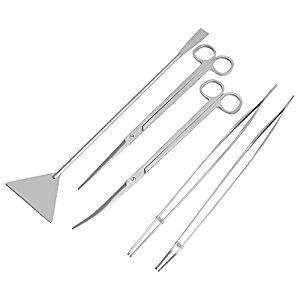 5 Pcs Stainless Steel Aquarium Maintenance Tools Kit 1