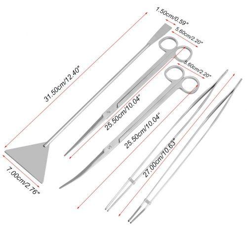 5 Pcs Stainless Steel Aquarium Maintenance Tools Kit 2