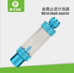 CO2 Bubble Counter cum Check Valve 300x294 - Wyin CO2 Bubble Counter With Non Return Valve