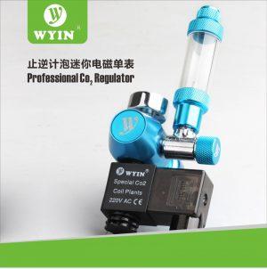 Wyin Single Gauge Co2 Regulator With Solenoid & Bubble Counter