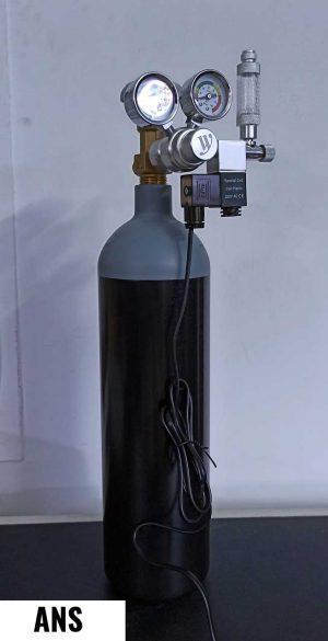 ANS 3 Ltr CO2 Cylinder with Wyin Dual Gauge Regulator