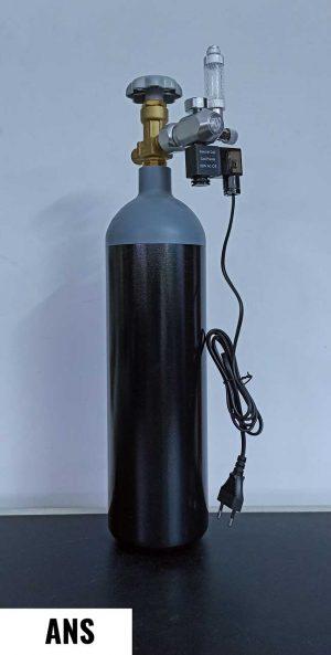 ANS 3 Ltr CO2 Cylinder with Wyin Single Gauge Regulator