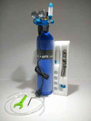CO2 Complete Kit with Dual Gauge Solenoid 300x400 - Oceanfree CO2 3 Ltr Cylinder Complete Kit (Dual)
