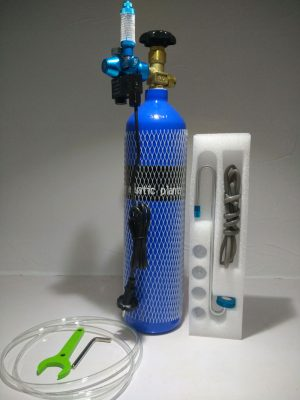 CO2 Complete Kit with Single Gauge Solenoid 300x400 - Oceanfree CO2 3 Ltr Cylinder Complete Kit (Single)