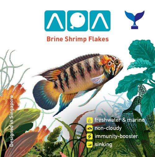 AQA Brineshrimp Flakes 34gms/100ml 1