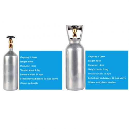 CO2 2 Ltr and 4 Ltr Dimension