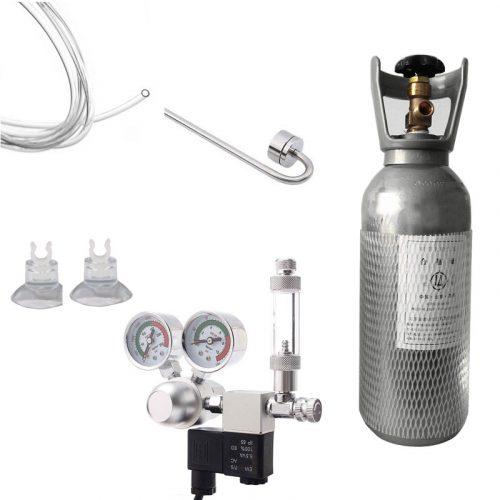4Ltr Cylinder with Dual Gauge Regulator