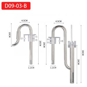 Stainless Steel Lily Pipe with Surface Skimmer 13mm