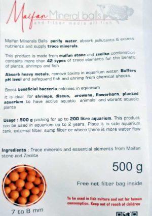 Maifan Mineral Balls Media 500gm